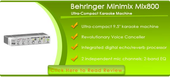 Behringer Minimix Mix800 Ultra-Compact Karaoke Machine with Voice Canceller And Fx